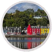 Colourful Tobermory Round Beach Towel