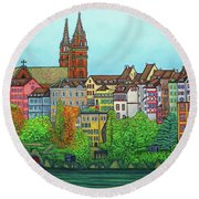 Colours Of Basel Round Beach Towel