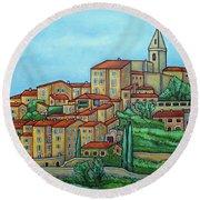 Colours Of Crillon-le-brave, Provence Round Beach Towel