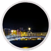 Colours Of The Night Round Beach Towel