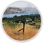 Columbia River - Biggs And Maryhill State Park Round Beach Towel