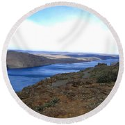 Columbia River 2 Round Beach Towel