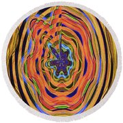 Columbia River Abstract #8045 Round Beach Towel