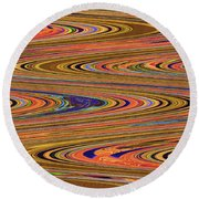Columbia River Abstract #8045wpsws Round Beach Towel