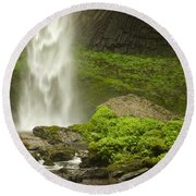 Columbia River Gorge 1 Round Beach Towel