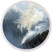 Columbia River Gorge Wildfire 2017 Round Beach Towel