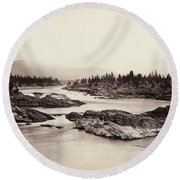 Columbia River: Kettle Falls Round Beach Towel