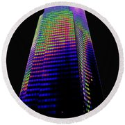 Columbia Tower Seattle Wa Round Beach Towel