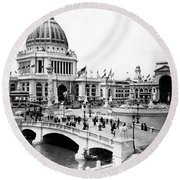 Columbian Expo, 1893 Round Beach Towel