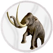 Columbian Mammoth Round Beach Towel