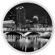 Columbus Black Night Round Beach Towel