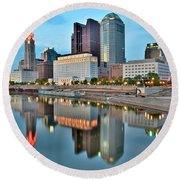 Columbus Squared Round Beach Towel