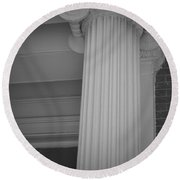 Column Of Baltimore Round Beach Towel