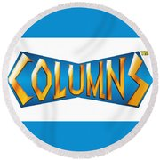 Columns Round Beach Towel