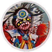 Comanche Dance Round Beach Towel