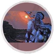 Comanche Spirit Round Beach Towel