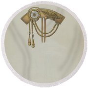 Comb Round Beach Towel