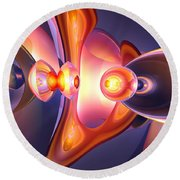 Combustion Abstract Round Beach Towel