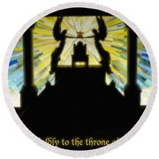 Come Boldly To The Throne Of Grace Round Beach Towel