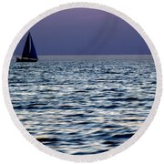 Come Sail Away 6 Round Beach Towel