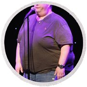 Comedian Ralphie May Round Beach Towel
