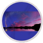 Comet Mcnaught Round Beach Towel