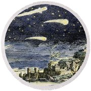 Comets Round Beach Towel
