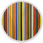 Comfortable Stripes Round Beach Towel by Michelle Calkins