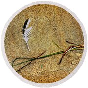 Coming Home To Mother Nature Zen Round Beach Towel