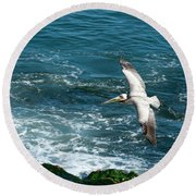 Coming In Round Beach Towel
