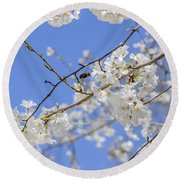 Coming Of Spring Round Beach Towel