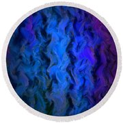 Coming Out Of The Dark Round Beach Towel