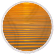 Coming Through In Waves Round Beach Towel