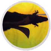 Coming To The Call 1905 Round Beach Towel