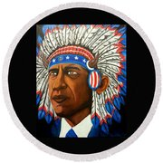 Commander And Chief Round Beach Towel