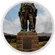 Commando Memorial 2 Round Beach Towel