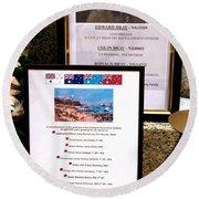 Commemorations Anzac Cove Round Beach Towel