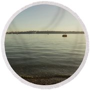 Commencement Bay 1 Round Beach Towel