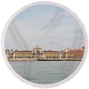 Commerce Square  Round Beach Towel