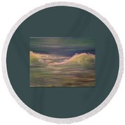 Commissioned Seascape Round Beach Towel