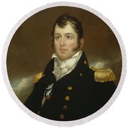 Commodore Oliver Hazard Perry Round Beach Towel