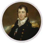 Commodore Oliver Hazard Perry Round Beach Towel