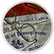 Commonwealth Of Pennsylvania Round Beach Towel