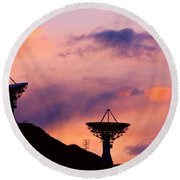 Communication Sunset Round Beach Towel