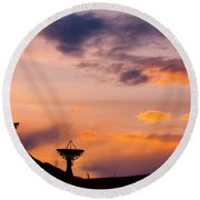 Communications To The Stars Round Beach Towel