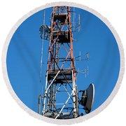 Communications Tower Round Beach Towel