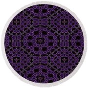 Community Garden Two Abstract Round Beach Towel