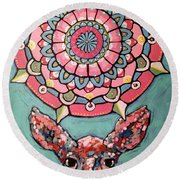 Compassion Orb Round Beach Towel