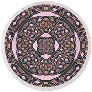 Complex Geometric Abstract Round Beach Towel
