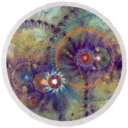 Complexity Is Worrisome Round Beach Towel